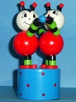 Ladybugs - Ladybirds - Double Dancing Push Puppet