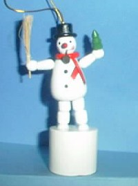 Snowman - Broomstick, Pipe & Tree