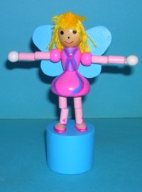 Fairy - Pink Dress - Blue Wings - Blue Base