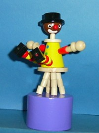 Clown - Stool - Black Hat - Yellow Suit - Purple Base