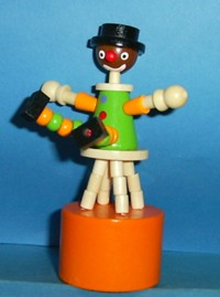 Clown - Stool - Black - Orange Base