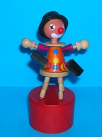 Clown - Stool - Orange Suit - Red Base