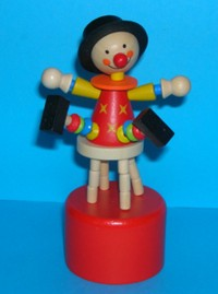 Clown - Stool - Stars on Chest - Red Base