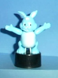 Bunny - Plastic - Blue - Black Oval Base