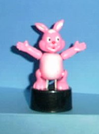 Bunny - Plastic - Pink - Black Oval Base