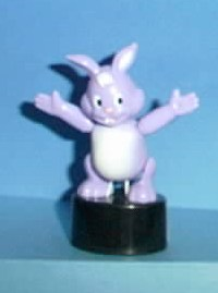 Bunny - Plastic - Purple - Black Oval Base