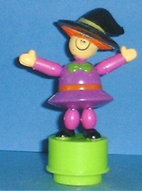 Witch - Halloween - Plastic - Crooked Hat - Small