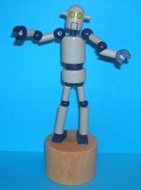 Robot - Large - Space - Natural Wood Base