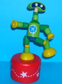 Robot - Spaceman - Green - Red Base