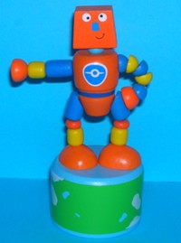 Robot - Spaceman - Orange - Blue Base