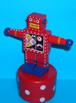 Robot - Red - Red / White Spotty Base