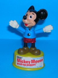 Mickey Mouse - Gabriel - Vintage - Push Puppet #1