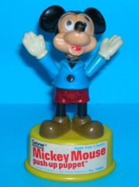 Mickey Mouse - Gabriel - Vintage - Push Puppet #2