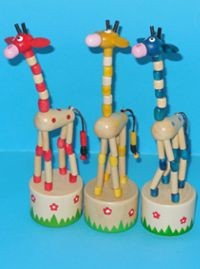 Giraffe - Choose from Blue Yellow Red - Daisy Base