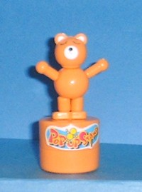 Bear - Teddybear- Push Puppet Stamper- Orange