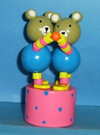Bears - Teddy Bears Double Dancing Push Puppet