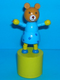 Bear - Teddy - Girl - Yellow Base
