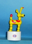 Dog - Yellow Red - C & A - White Base