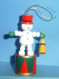 Snowman - Broomstick - Red /green base