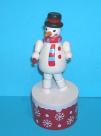 Snowman - Red Starry Snowflake Base - Christmas -