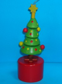 Christmas Tree - Baubles - Push Puppet