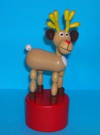 Reindeer - New Design - Large - Red Base - Czech
