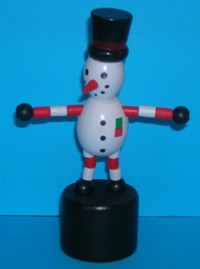 Snowman - Top Hat - Carrot Nose - Black Base