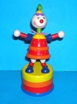 Clown - Red - Brightly Striped Base