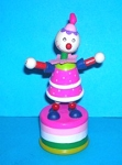 Clown - Pink - Brightly Striped Base