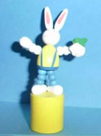 Easter Bunny - Turnip Swede - Wood - Yellow Base