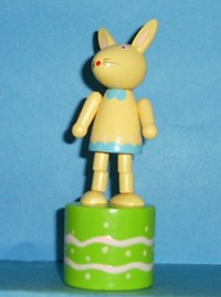 Bunny - Rabbit - Easter - Yellow - Green Base - Pink Waves