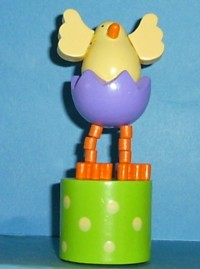Chick - Easter - Purple Egg - Yellow Spots
