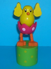 Chick - Easter - Green - Pink Egg - Yellow Spots