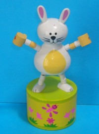 Bunny - Easter - Cute - Yellow Spring Base