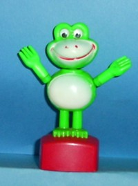 Frog - Plastic - Red Square Base