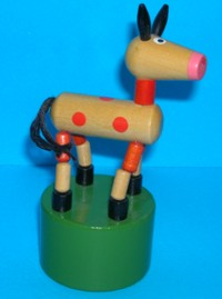 Horse - Large - Red Spots - Green Glossy Base