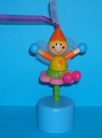 Fairy - Orange Cap - Pink Flower - Blue Base
