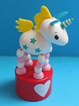 Unicorn - Magic - Mystical - Red Base - White Heart