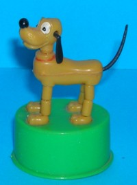 Pluto Dog - Kohner - Vintage - Mini Push Puppet #1