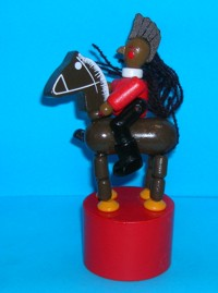 Indian - Horse - Push Puppet