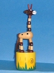 Giraffe - small - brown/natural neck - Jungle Base