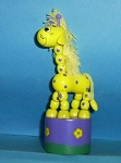 Giraffe - Fantasy - Yellow - Purple base