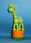 Giraffe - Fantasy - Green - Orange base