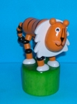 Tiger - Large - Push Puppet