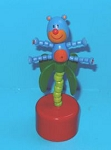 Monkey - Palm Tree - Push Puppet - Red Base