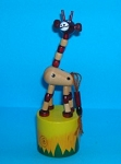 Giraffe - Small - Alternate Bead Neck - Jungle Base