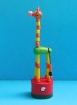 Giraffe - Red Daisy Base - Green Body