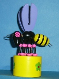 Bee - Bumble - Mauve Wings - Yellow Base