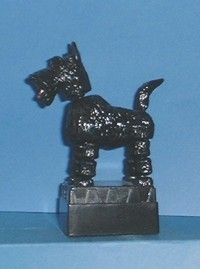 Scotty Dog - Push Puppet - Highland Terrier