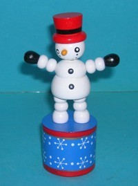 Snowman - Red Hat - Blue Star base